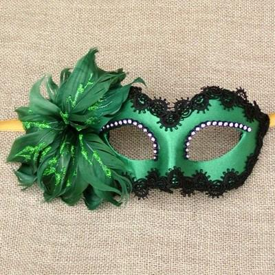 Colombina Fiore Green Masquerade Mask