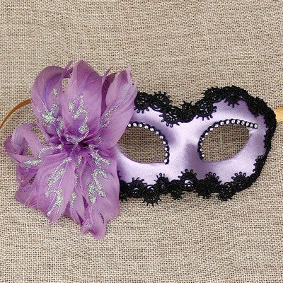 Colombina Fiore Purple Masquerade Mask