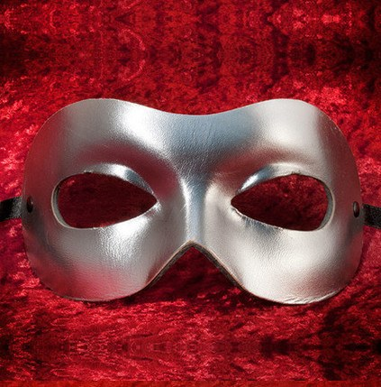 Colombina Leather Fran Silver A Masquerade Mask