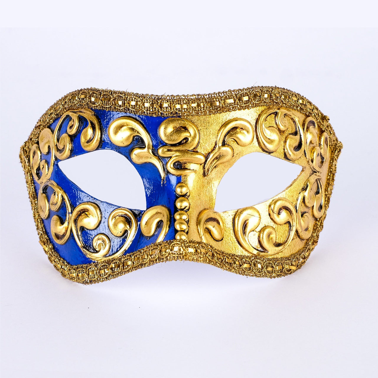 Colombina Mezza Blue Masquerade Mask