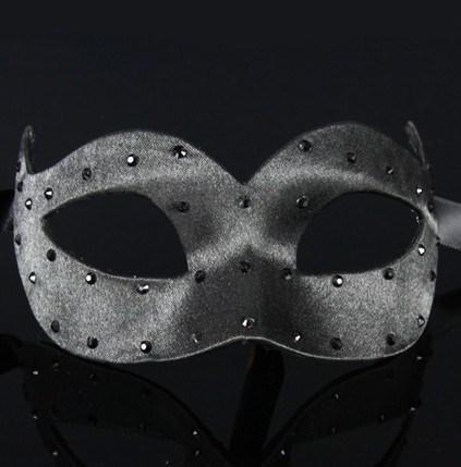 Colombina Pois Black Masquerade Mask