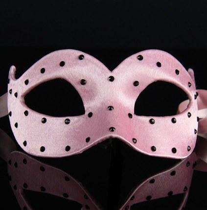 Colombina Pois Pink Masquerade Mask
