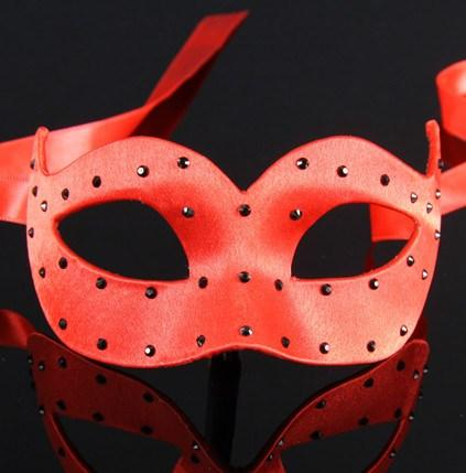 Colombina Pois Red Masquerade Mask