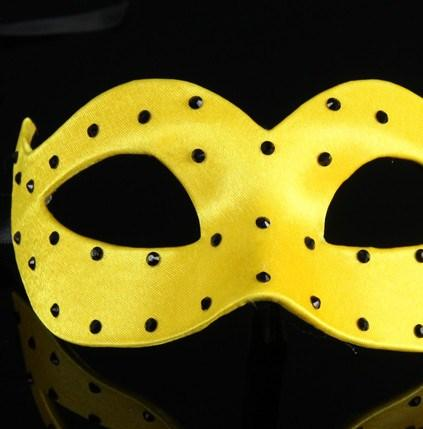 Colombina Pois Yellow Masquerade Mask