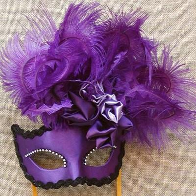 Colombina Purple Rose Cloud Masquerade Mask