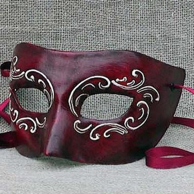 Colombina Red Ink Masquerade Mask