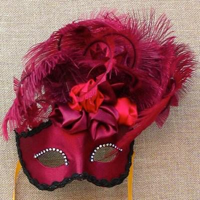 Colombina Red Rose Cloud Masquerade Mask