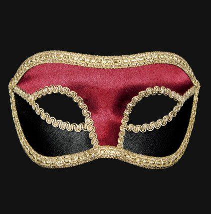 Colombina Velluto Black/Red Masquerade Mask