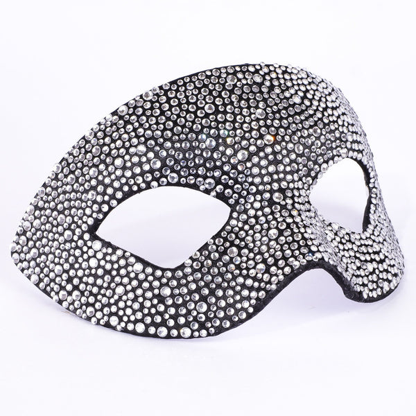 Estro Strass Crystal Black Masquerade Mask