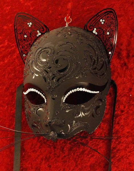 Gattino Black Masquerade Mask