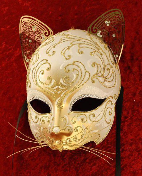 Gattino White Masquerade Mask