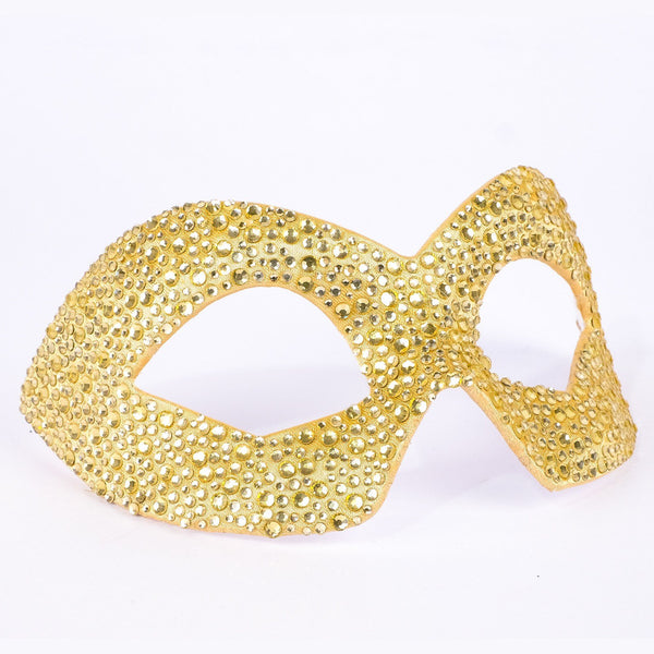 Hero Strass Gold Masquerade Mask