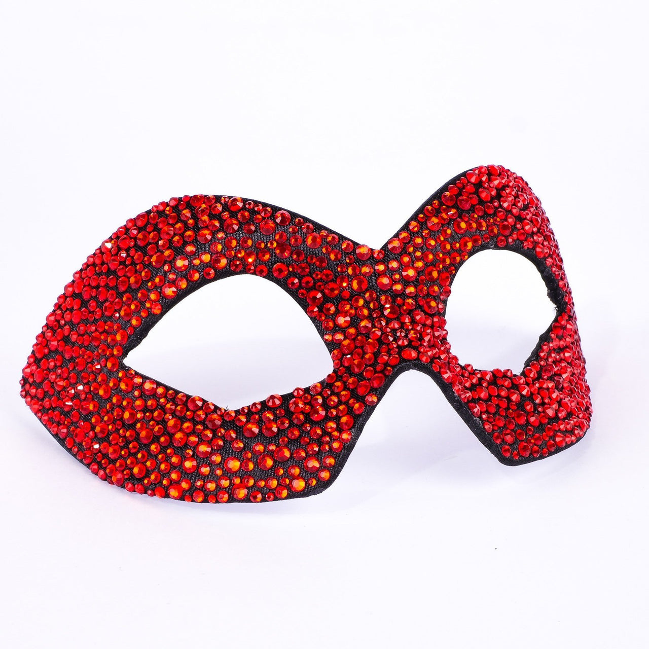 Hero Strass Red Black Masquerade Mask
