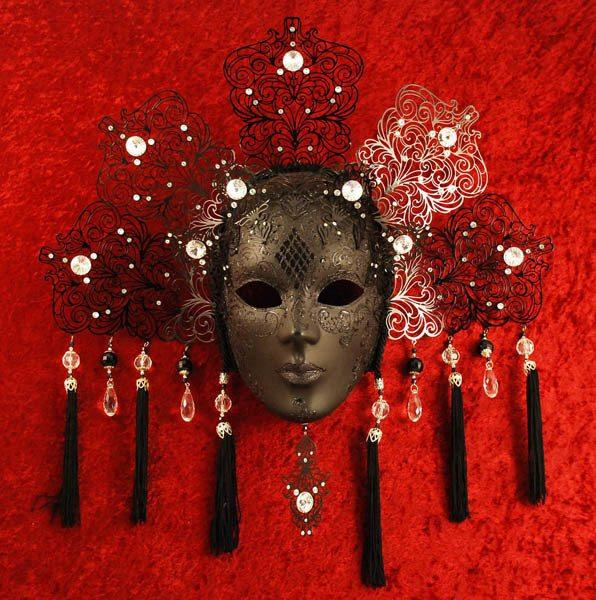 Magnificient Nefertiti Black Masquerade Mask