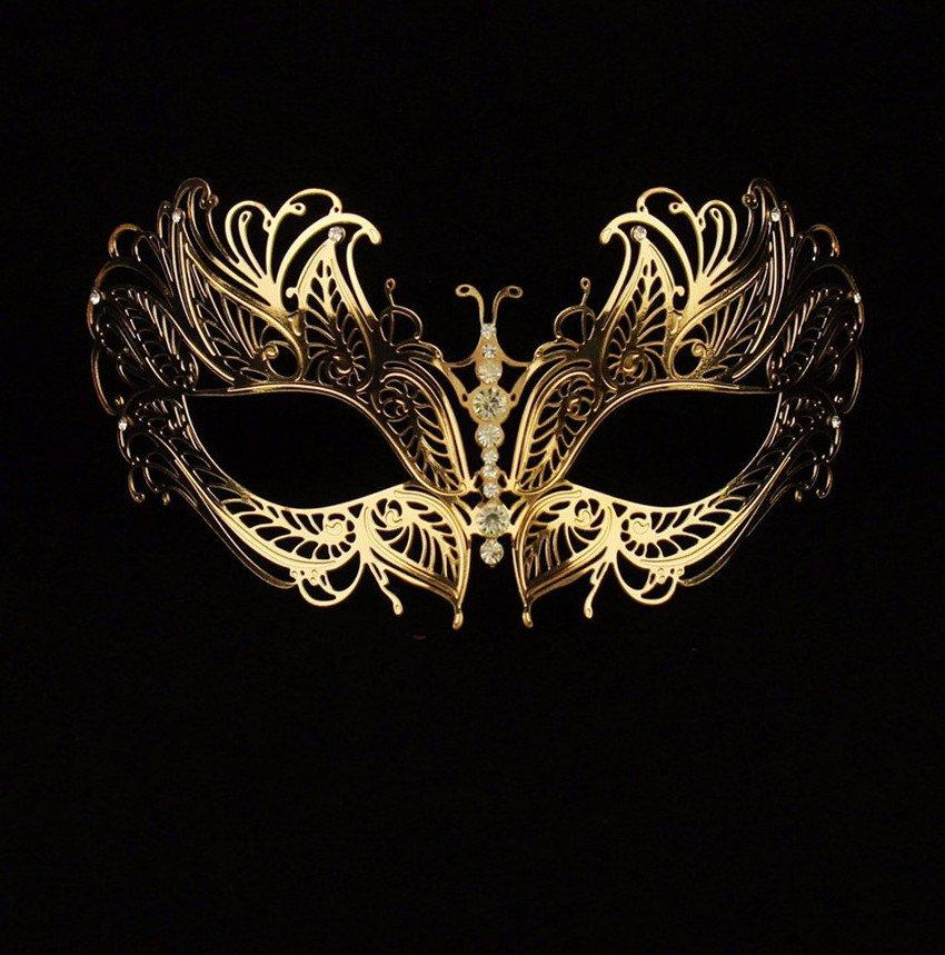 Phoenix Metallo Gold Masquerade Mask