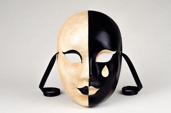 Pierrot Mystere Masquerade Mask