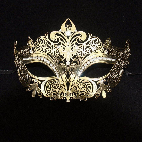 Regal Gold Masquerade Mask