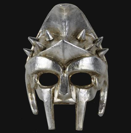 The Silver Gladiator Masquerade Mask