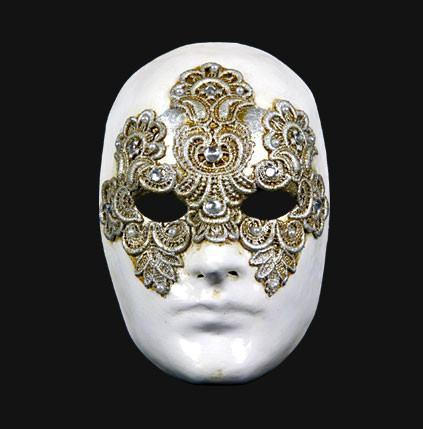 Tom Cruise 'Eyes Wide Shut' Silver Masquerade Mask