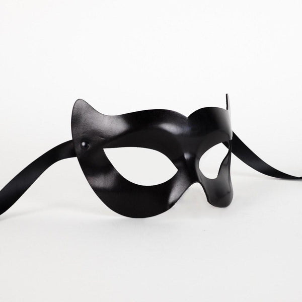 Vamp Leather Black Masquerade Mask