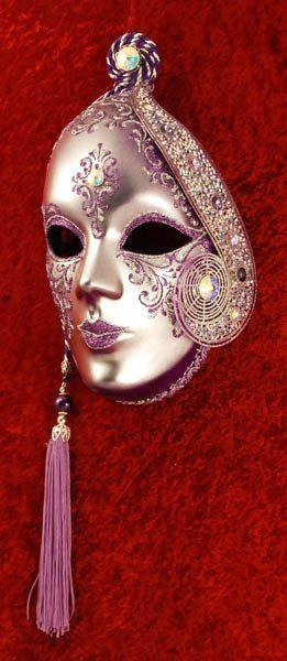 Volto Beatrice Purple Masquerade Mask