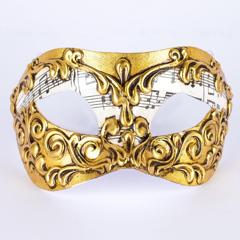 Colombina Musica Stucchi Gold Masquerade Mask