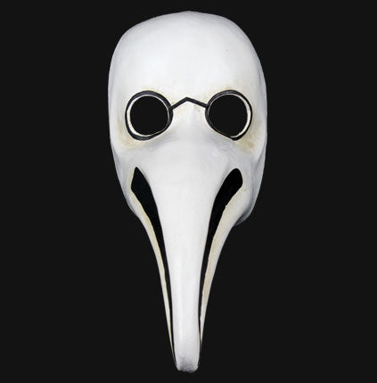 "Authentic White Plague Doctor ""Naso Peste Cera"" Masquerade Mask"