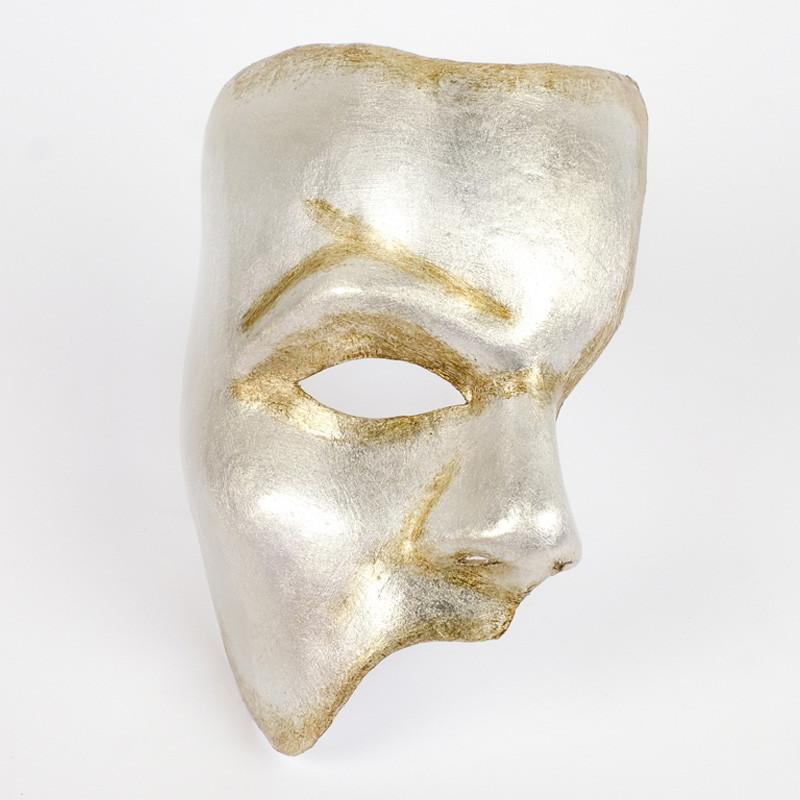 Phantom of the Opera Silver Masquerade Mask