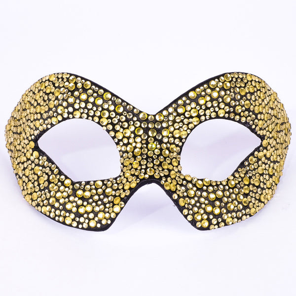 Hero Strass Gold Black Masquerade Mask