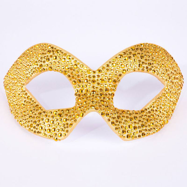 Hero Gold Rhinestud Masquerade Mask