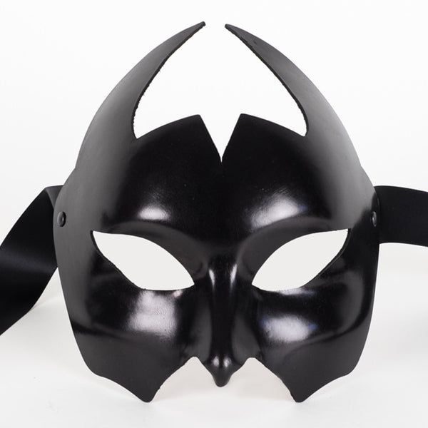 Devil Leather Black Masquerade Mask