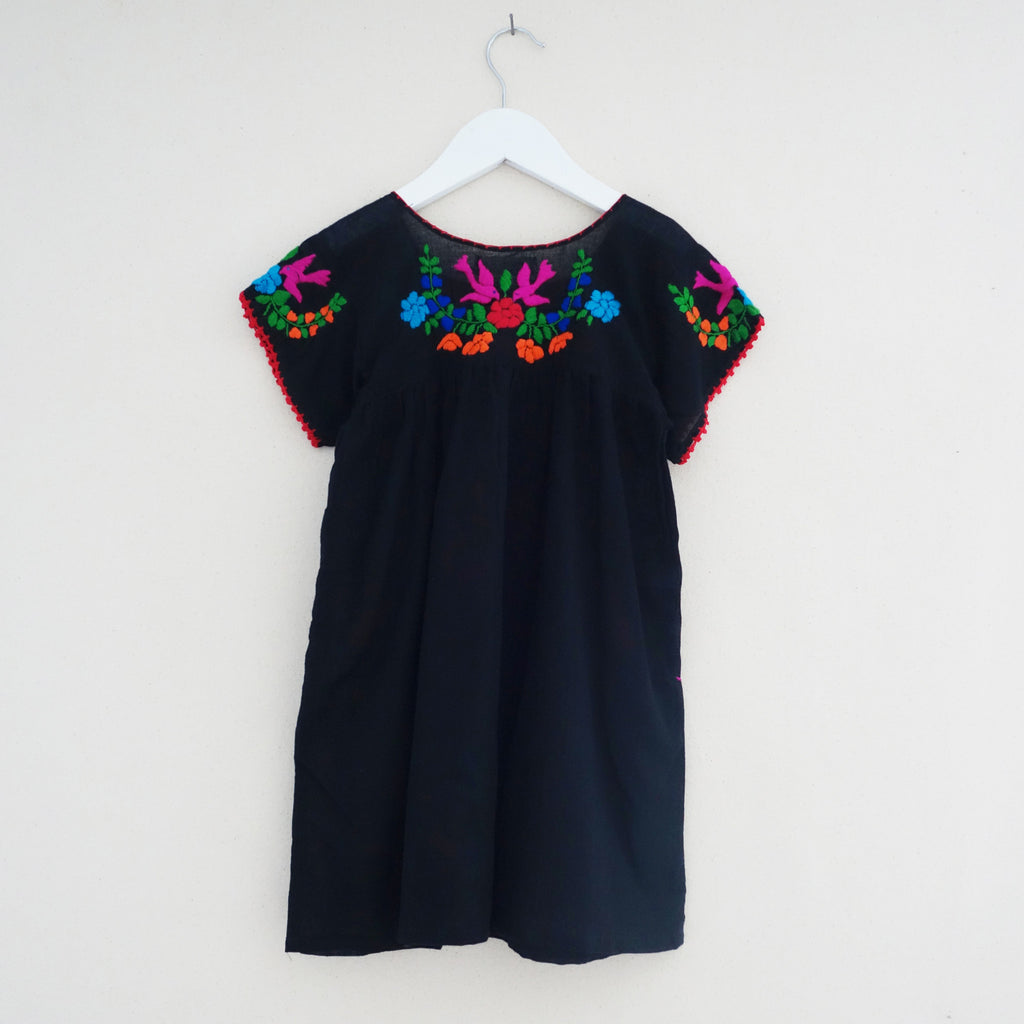 Puebla Dress Black