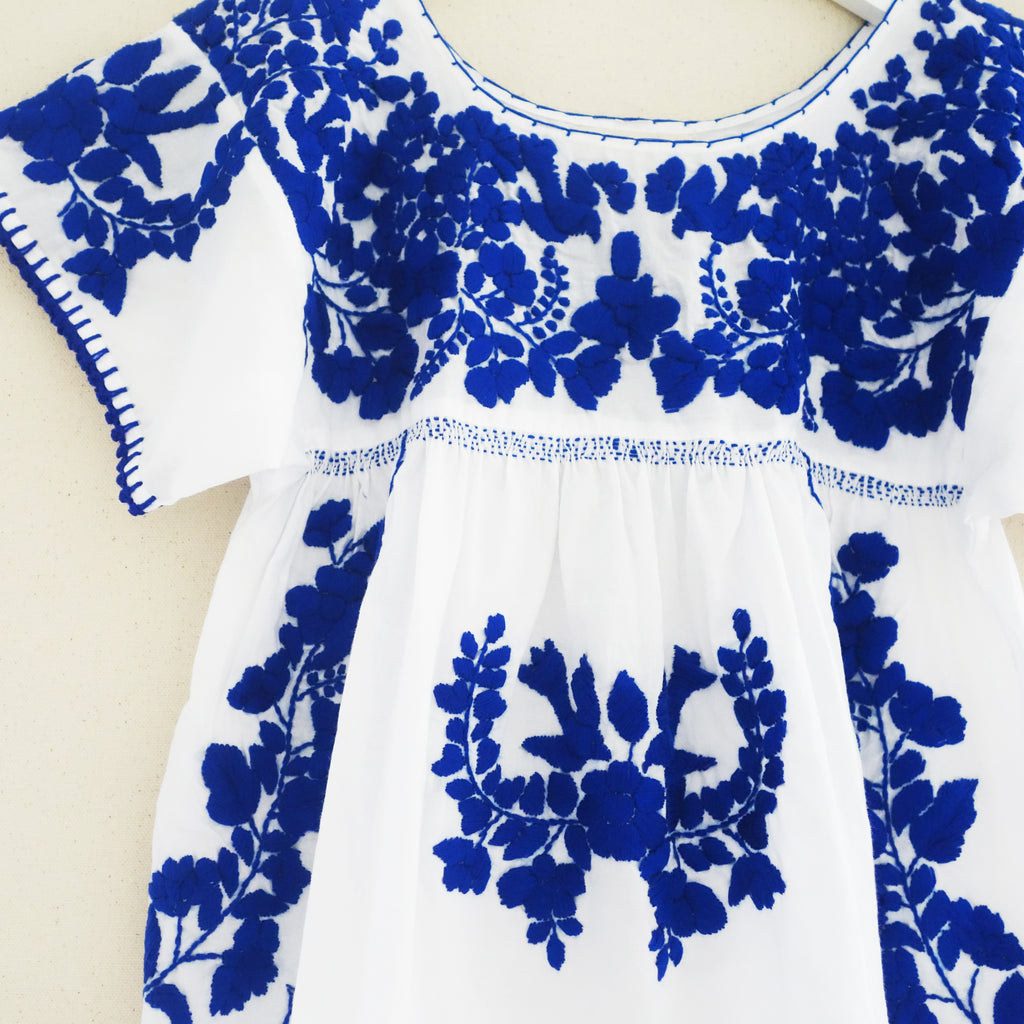 Puebla Dress Blue
