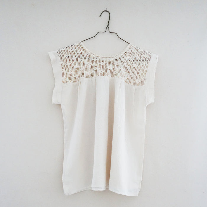 Crochet Blouse Ecru