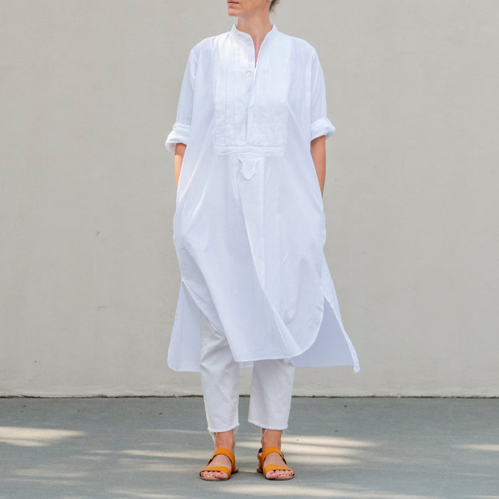 Montbéliard Shirt Pleats White