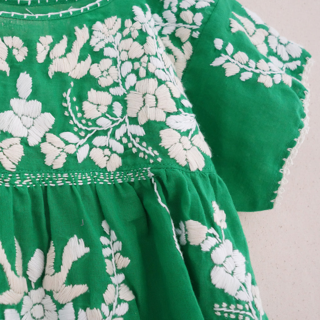 Puebla Dress Green