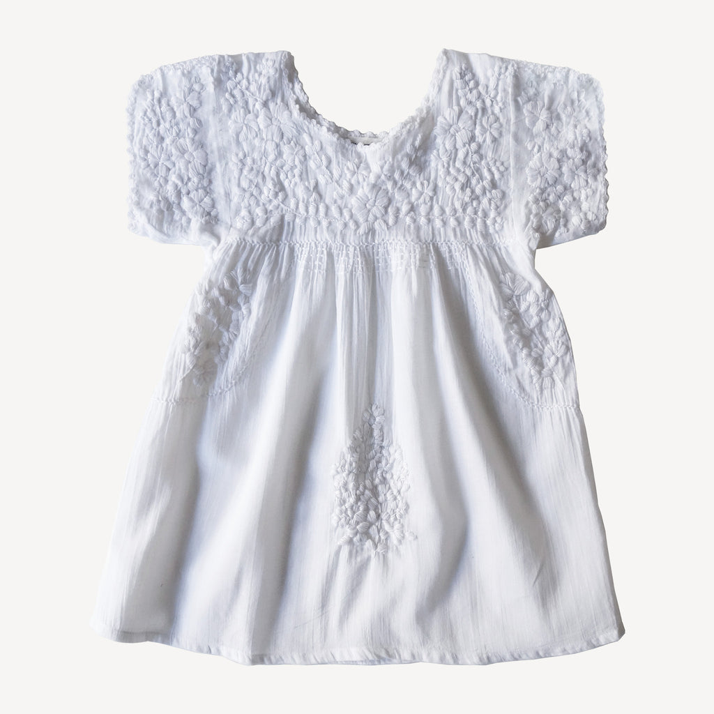 Oaxaca Dress White
