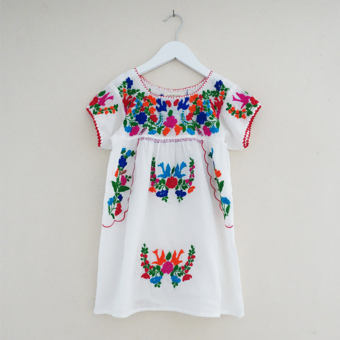 Puebla Dress White