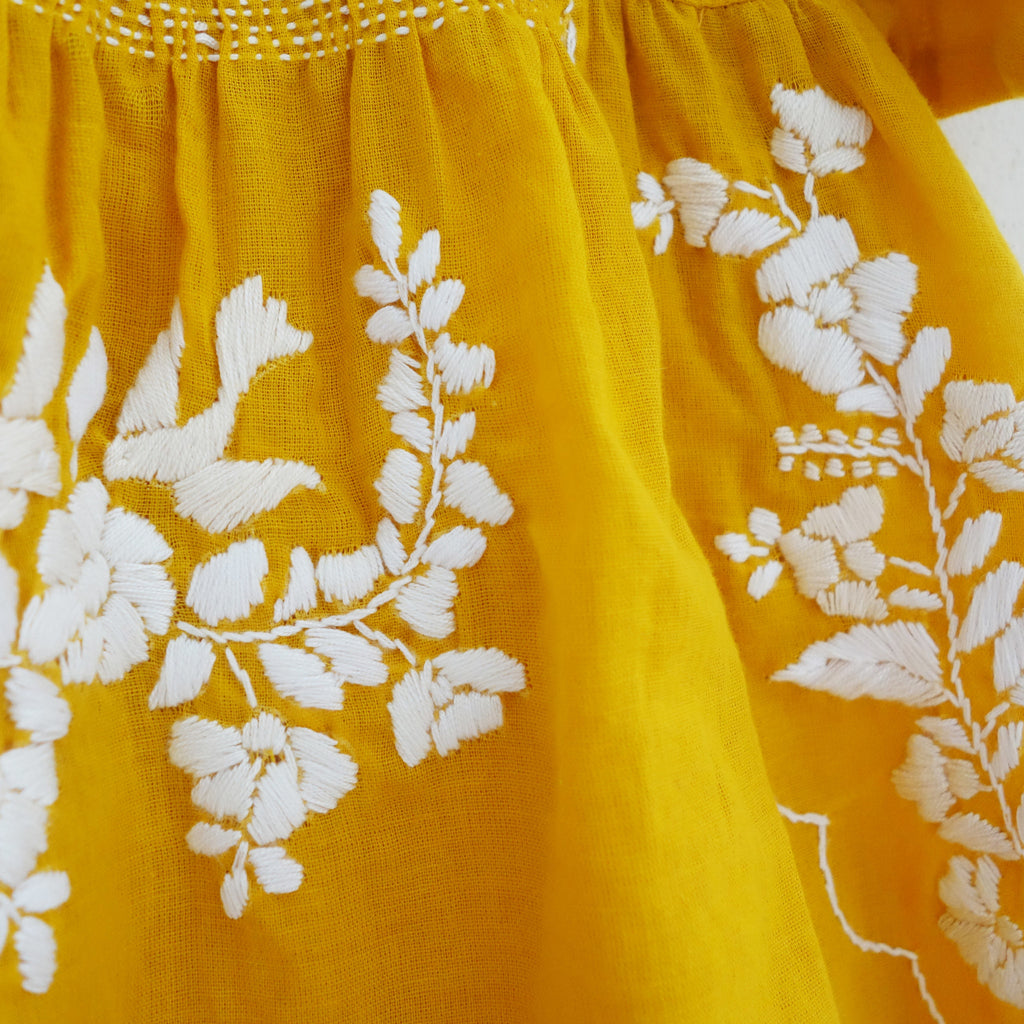 Puebla Dress Yellow