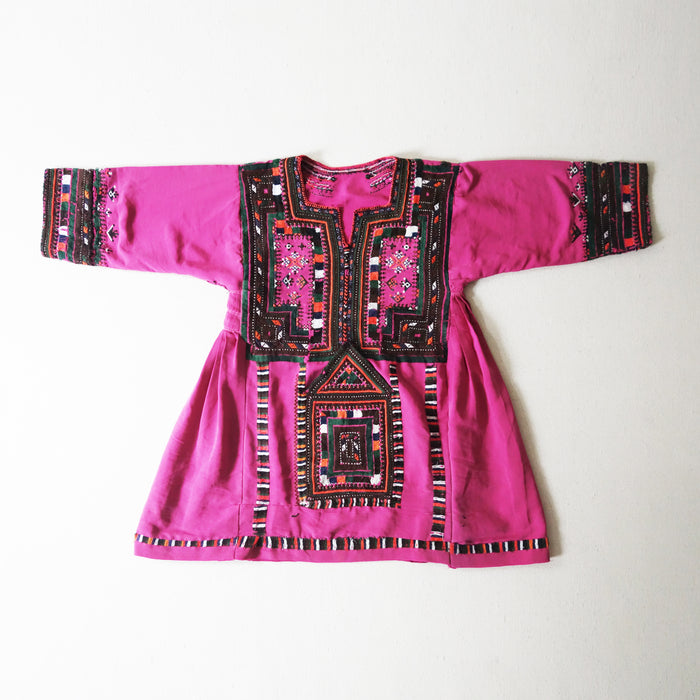 Afghani Dress Fushia