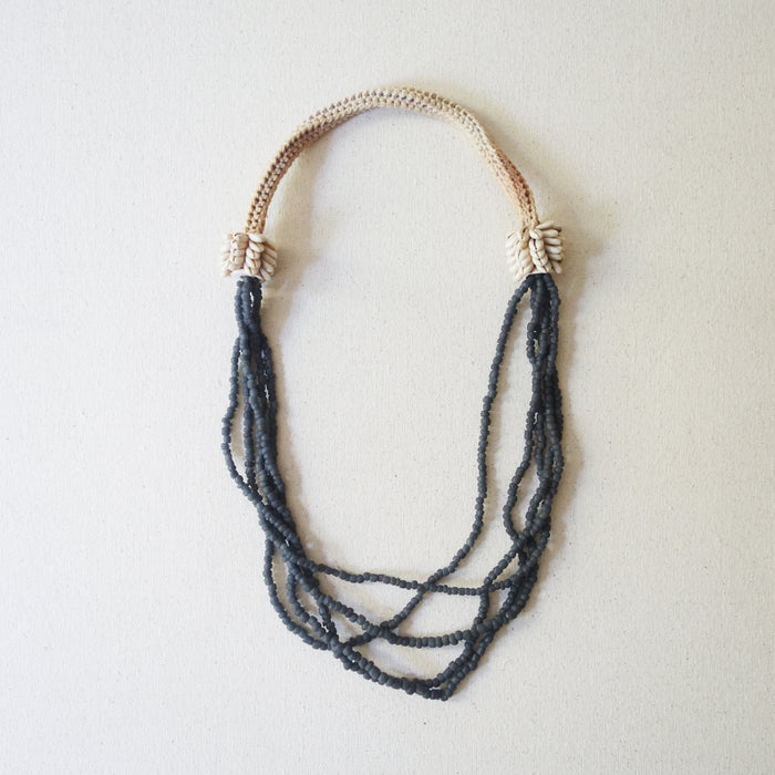 Beaded Necklace - Anthracite