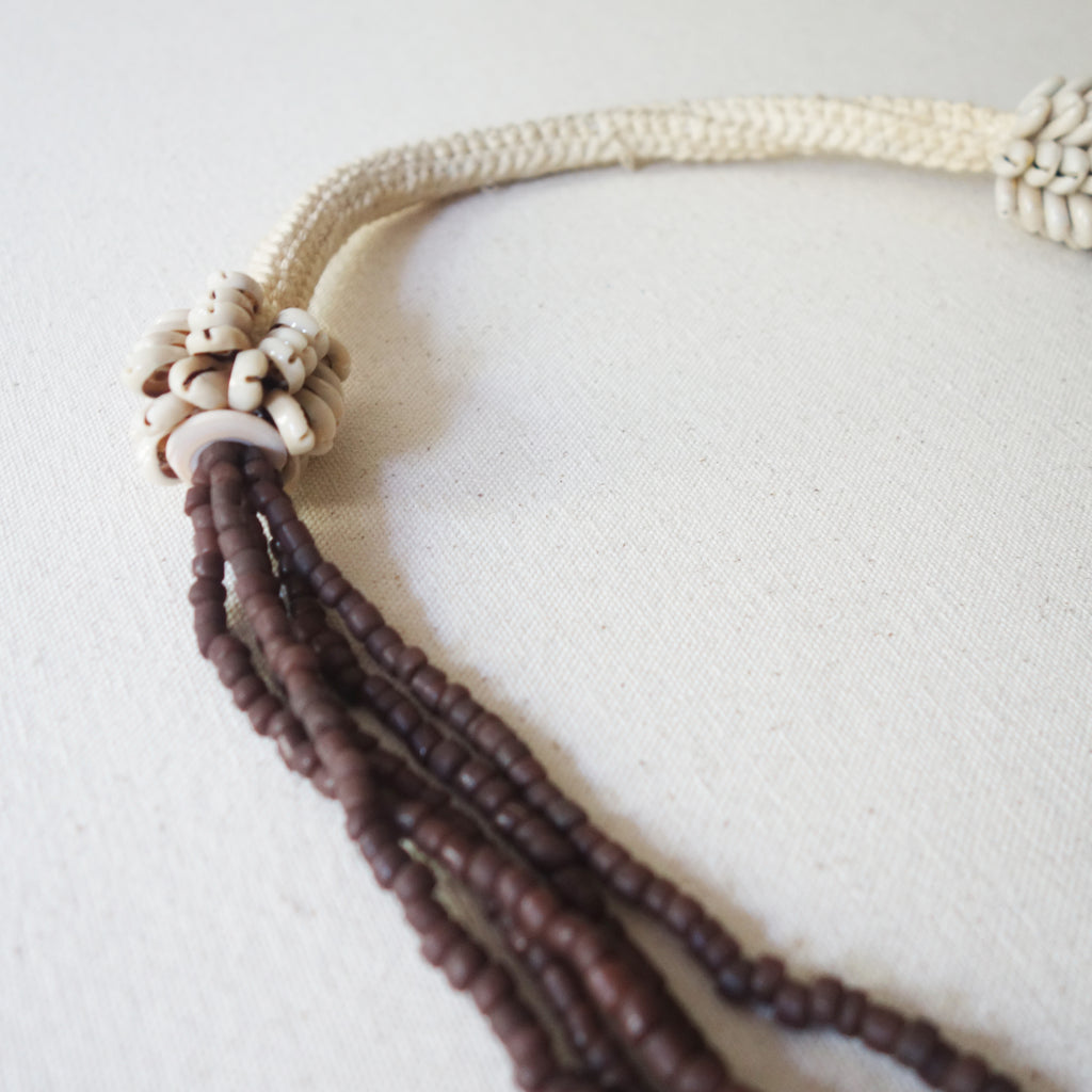 Beaded Necklace - Brown