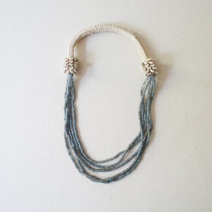 Beaded Necklace - Gray