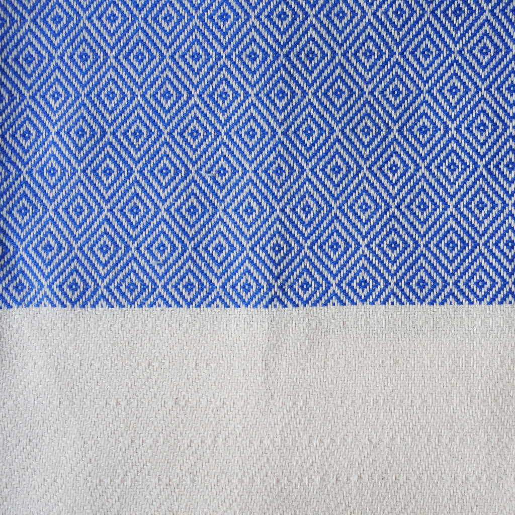 Peshtemal chevron diamond blue