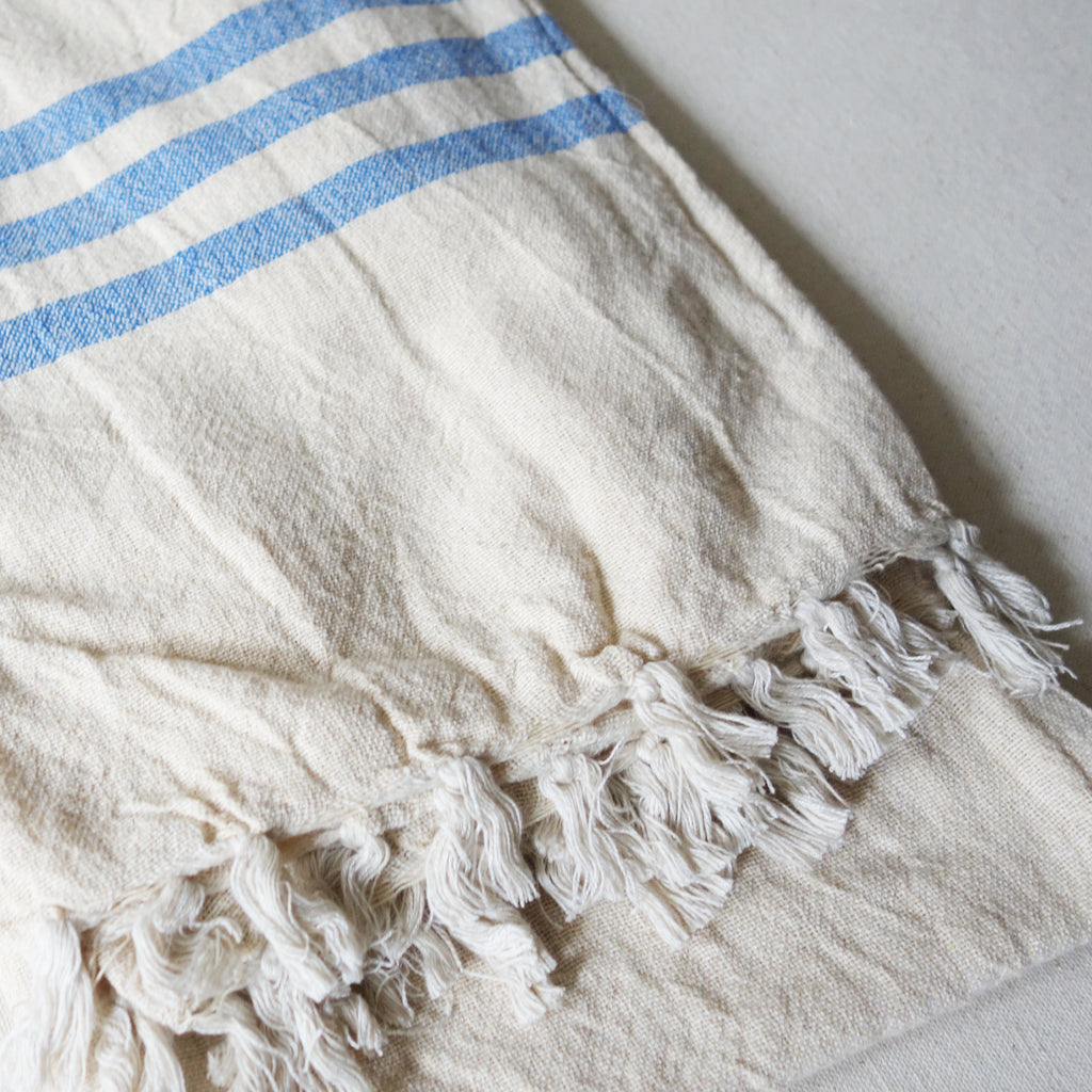Triple Stripe Linen Scarf