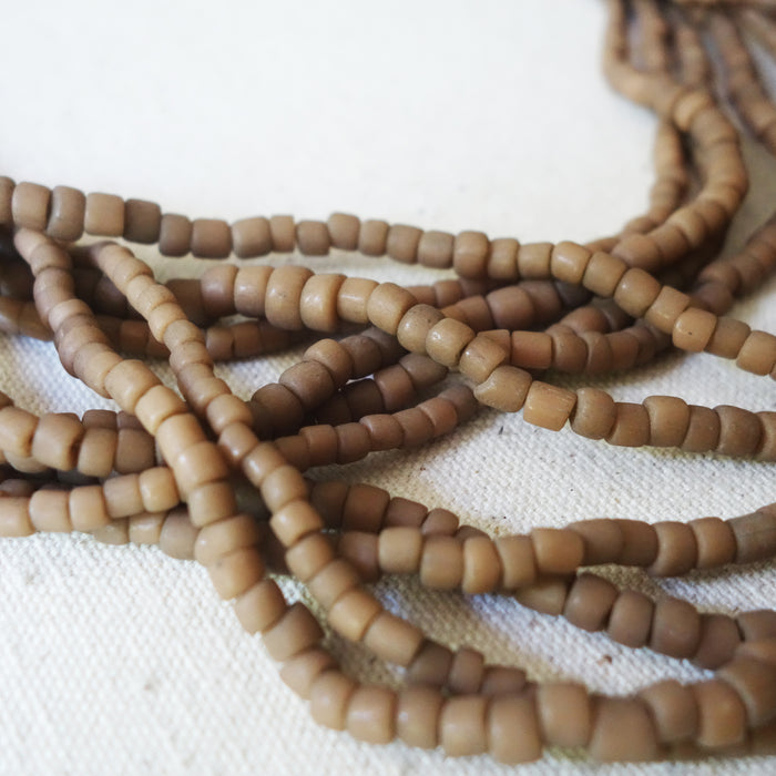 Beaded Necklace - Tan