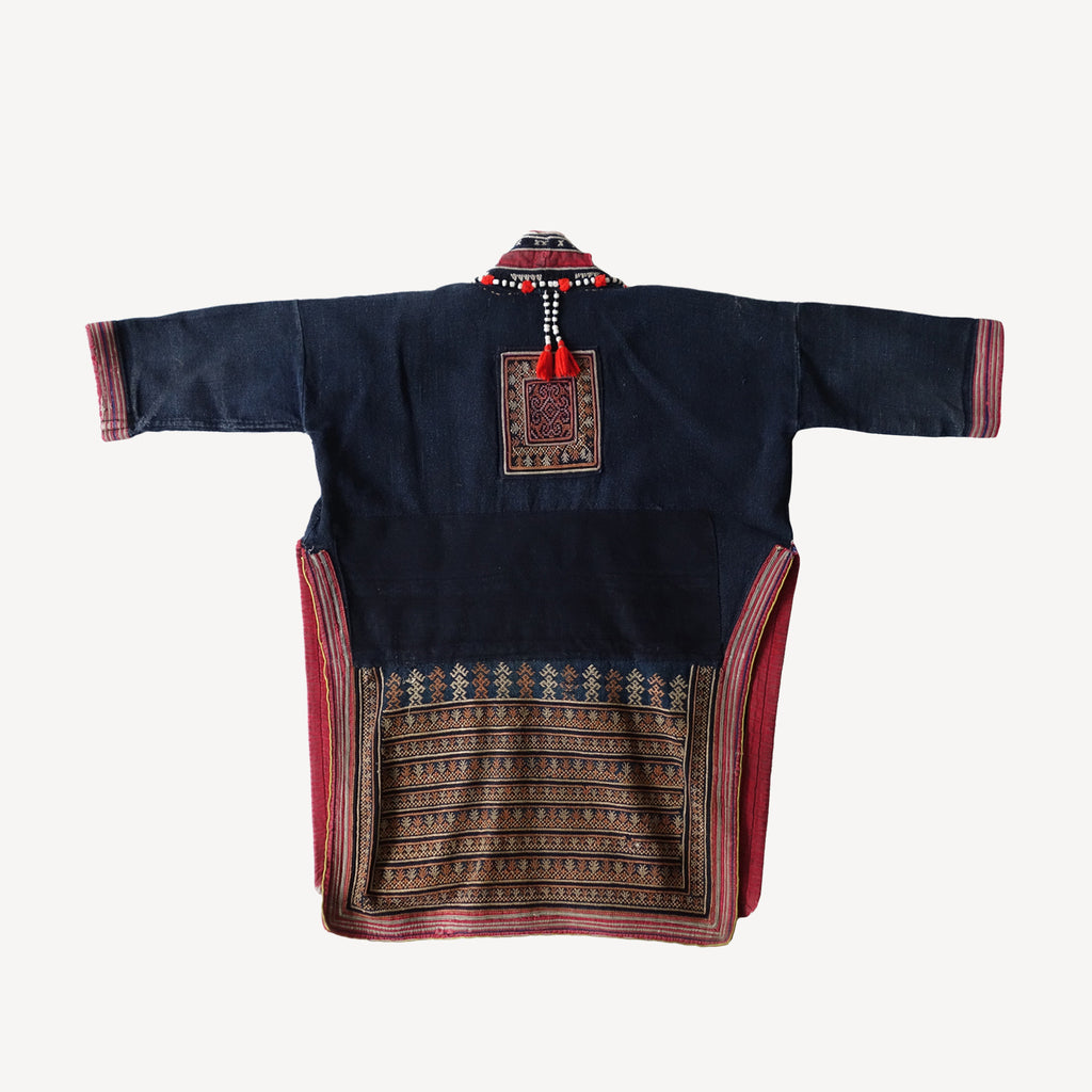 Red Dao tribe tunic (kids 3T)