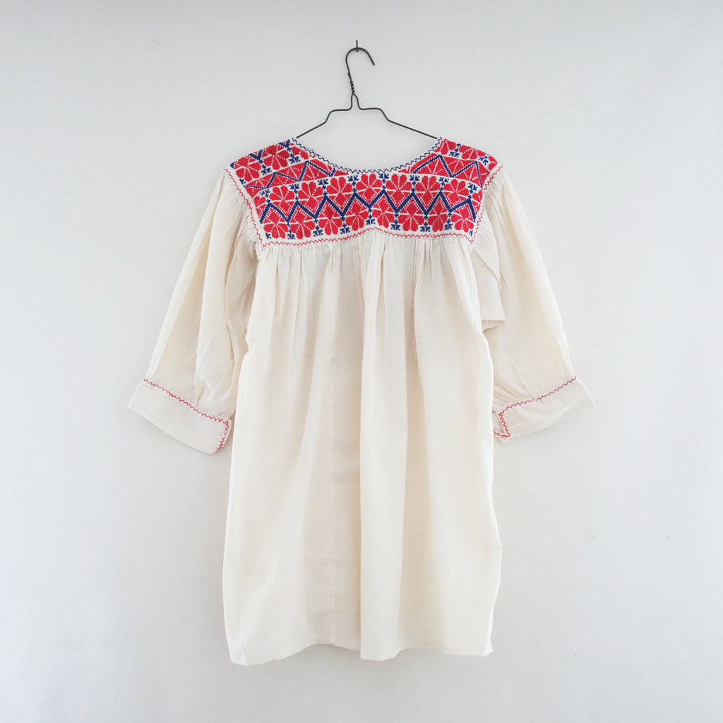 Embroidered Blouse Red