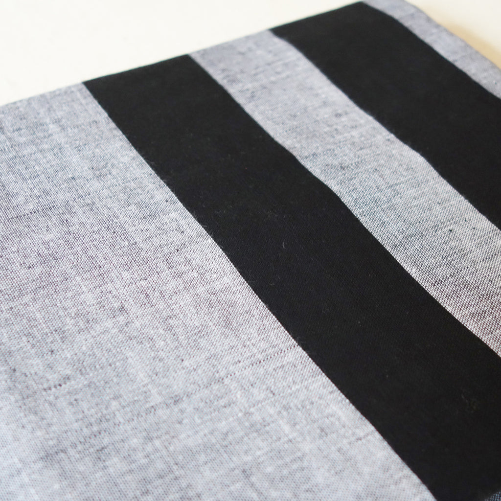Sarong Grey/Black Stripes