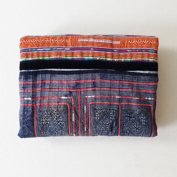 Hmong Blanket Blue/Orange